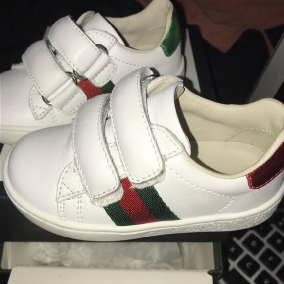 13e4689a84d Gucci Other - Gucci Toddler leather sneaker with Web